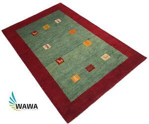 Gabbeh Orient Teppich 120x180 Cm Handgeknupft 100 Wolle Hell