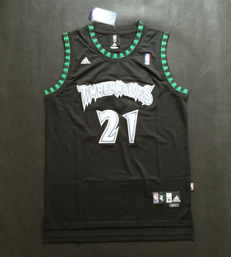 New Minnesota Timberwolves #21 Kevin Garnett Black Basketball Jersey Size:S-XXL