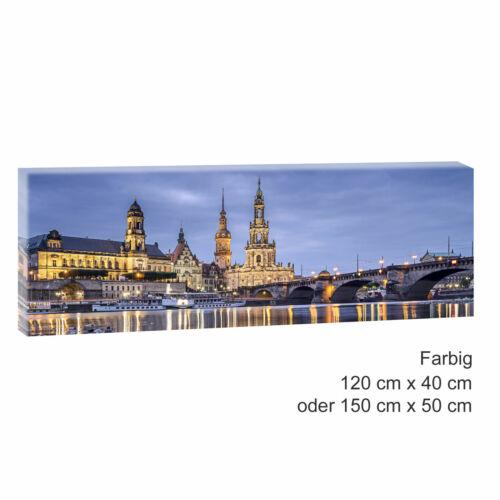 Panoramabild Bilder auf Leinwand Poster Wandbild XXL 150 cm*50 cm 512 Dresden