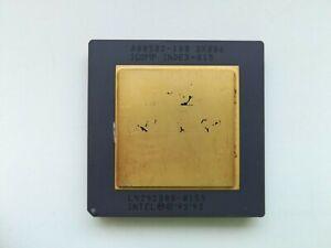 Intel Pentium 100 GOLD A80502-100 very rare SX886 FDIV bug Vintage CPU, GOLD