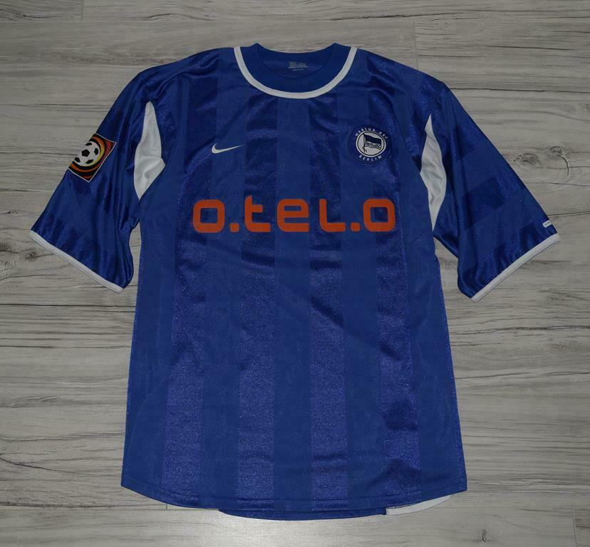 Hertha Berlin 2000 01 Hogar Camiseta De Fútbol Wosz Talla XL
