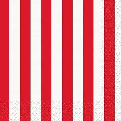 Stripes 16 Luncheon NAPKINS {33x33cm} (Decoration/Birthday/Party)