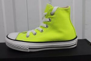 0f46b33661 Details about YOUTH/ INFANTS CONVERSE CT OX ELECTRIC YELLOW 339782F BNIB