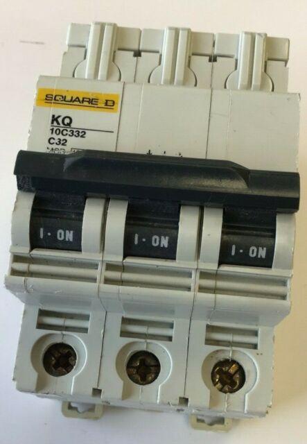 Schneider C32 32Amp Type C Triple Pole MCB Circuit Breaker 10kA