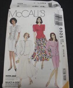 McCalls 5295 Stitch N Save Elastic Waist Skirts With Sash Sizes A  XS S M Uncut