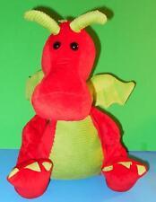 Adorable Animal Adventures Cuddly Cute Red n Green Plush Dragon Stuffed Animal