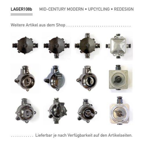 Vintage Abzweigdose Bakelit Verteiler alt Installation Klemmdose Aufputz IKA