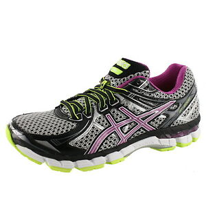 ASICS WOMENS GT 2000 2 COLOR BLACK ORCHID YELLOW RUNNING SHOES  5266a672e