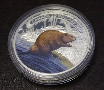 Beaver at Work 2015 Canada $20 Fine Silver Coin