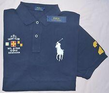 New 3XLT 3XL TALL POLO RALPH LAUREN Mens Big Pony rugby shirt Navy blue top 3XT