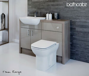 Merveilleux Image Is Loading LATTE DRIFTWOOD BATHROOM FITTED FURNITURE 1200MM
