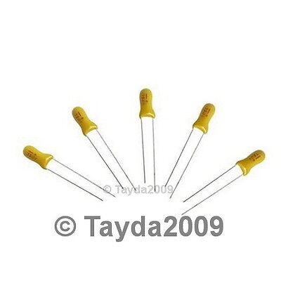 20 x 1uF 35V Radial Capacitor Tantalum - Free Shipping