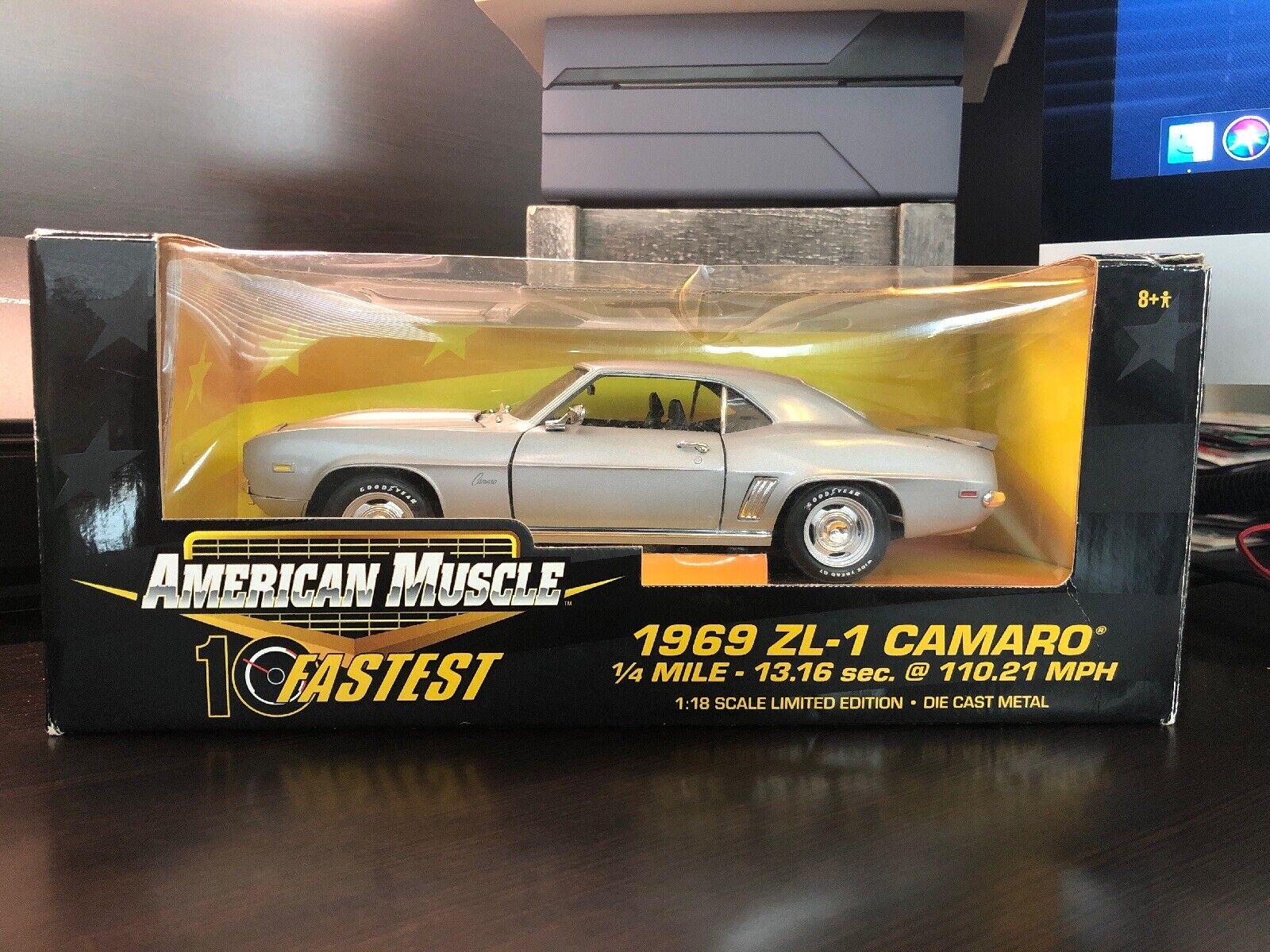 American Muscle 10 Fastest 1969 ZL-1 Camaro 1 18 Die  Cast Metal Limited Ed.  haute qualité générale