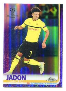 JADON-SANCHO-2018-19-Topps-Chrome-UEFA-Purple-Refractor-Ref-Rookie-RC-SP-207-250