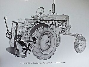 ih international farmall super a 16 middle buster plow owners manual rh ebay com Farmall 140 Tractor Manual 140 Farmall Wiring-Diagram