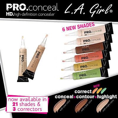 L.A. Girl Pro Concealer HD High Definition Liquid Concealer 1,2,3,4,5,6,10,12,18