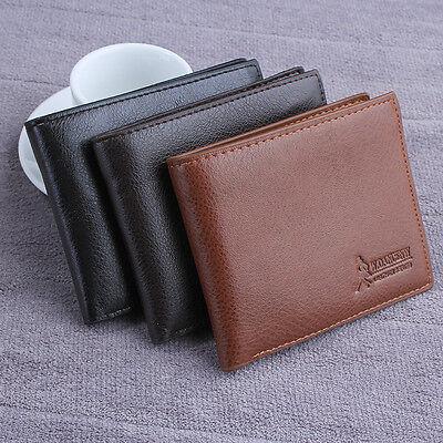 Men's Leather Wallet Card Holder Coin Purse Pockets Bifold Money Clip Wallets