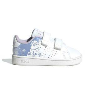 Scarpe Bambina Adidas Advantage Frozen a Strappo Bianca Sneaker Palestra Scuola