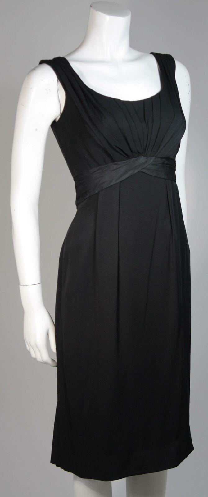 CEIL CHAPMAN 1950s Black Draped Cocktail Dress Si… - image 4