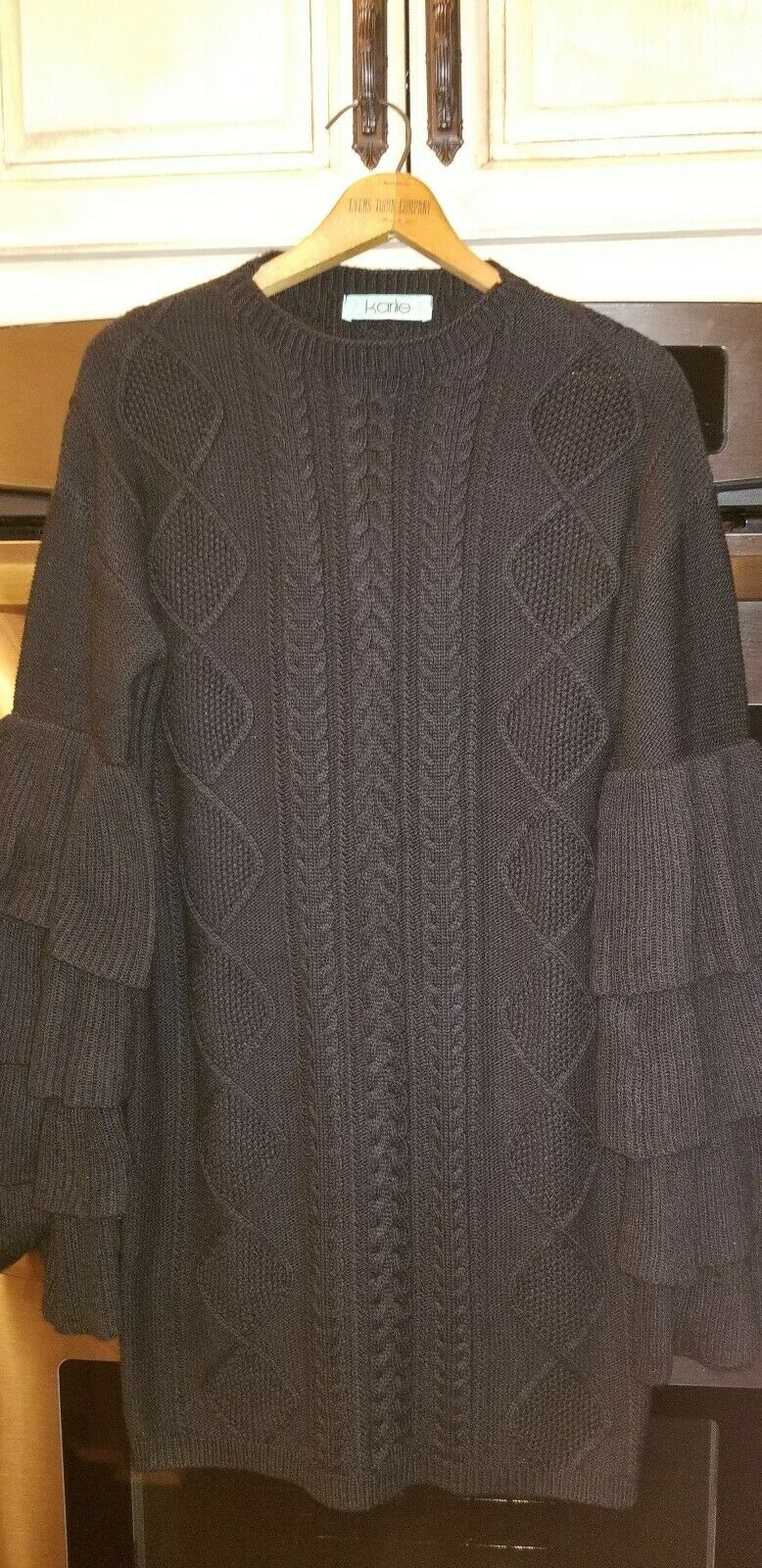 Karlie Brand Boutique Chandelier Sleeve Sweater Dress Ladies Size 4-6 (Small)