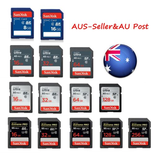 San 8GB 16GB 32GB 64GB 128GB SD Memory Card SDXC DSLR 4K Full HD SDHC Ultra