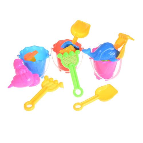 6pcs Sand Beach Play Toys Set Kids Children Seaside Bucket Shovel Rake Kit AS