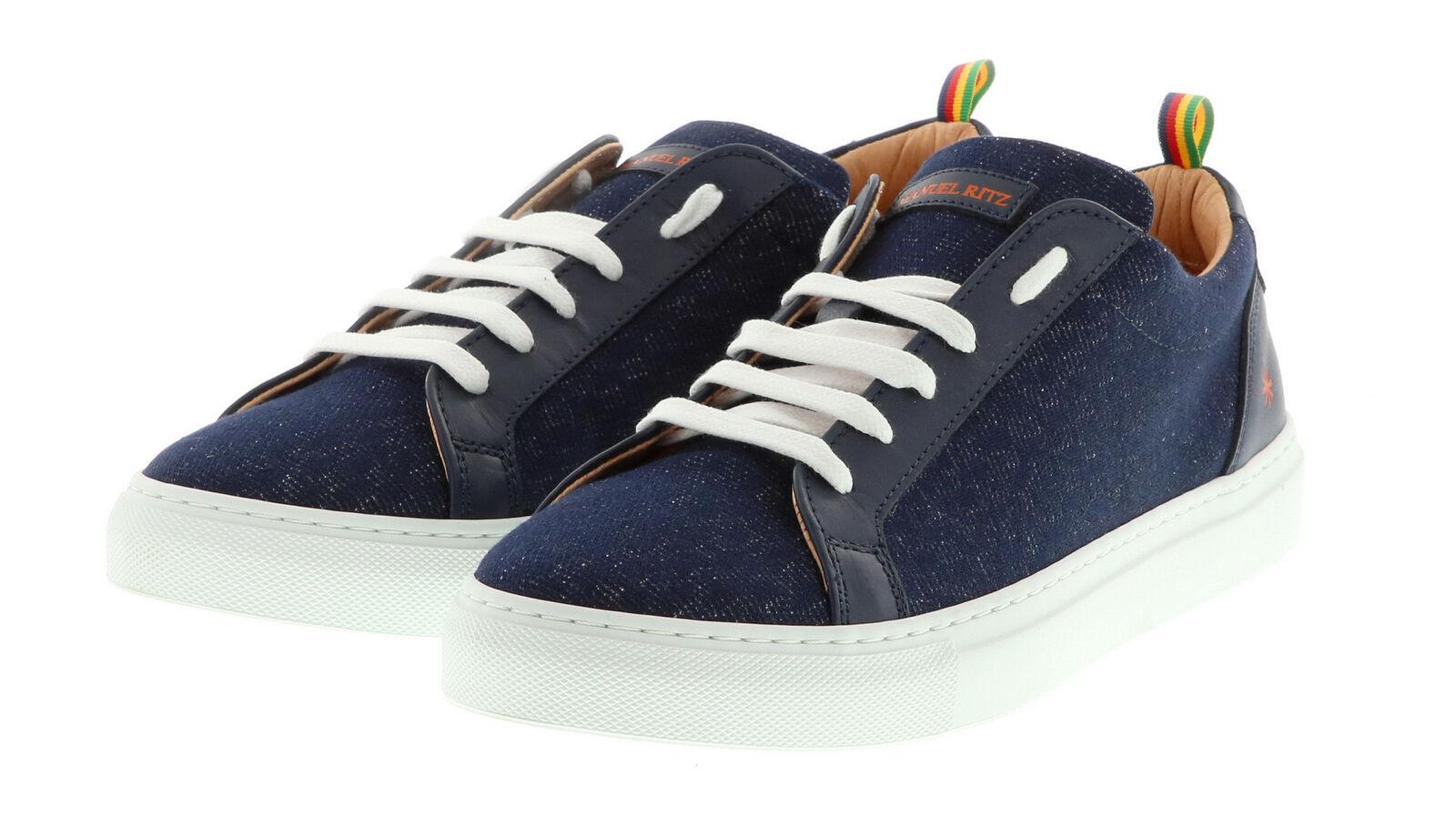 Manuel Ritz-cortos azul azul azul zapatos caballero de diseño deportivo con suela de caucho 5fe383