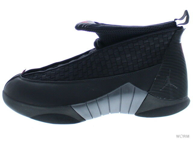 AIR JORDAN 15 RETRO 881429-001 black varsity red-anthracite Size 8