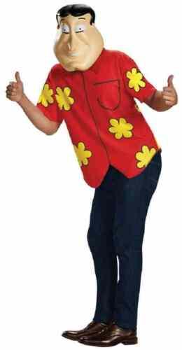 Quagmire Family Guy TV Shirt Mask Fancy Dress Up Halloween Deluxe Adult Costume