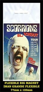 Scorpions-Blackout-TourFLEXIBLE-BIG-MAGNET-IMAN-GRANDE