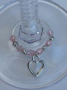 20-Pink-Crystal-Wine-Glass-Charms-Hens-Wedding-Gift-Party