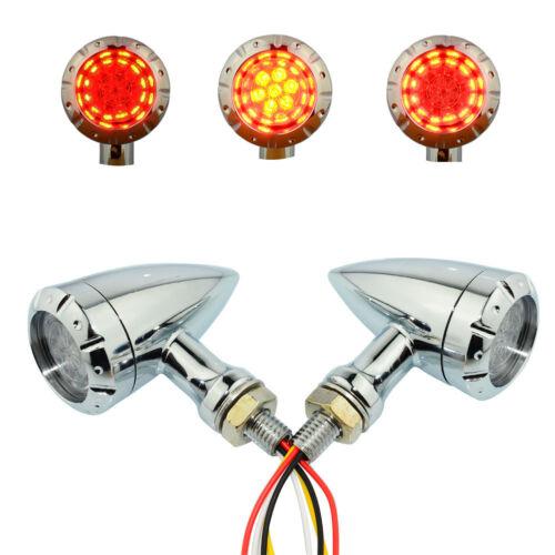 Motorcycle LED Bullet Turn Signal Brake Running Tail Light Lamp bright Universal