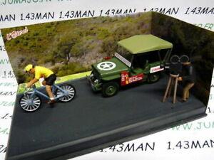 NB6E-IXO-1-43-diorama-route-bleue-RN7-JEEP-Willys-MB-course-cycliste-velo