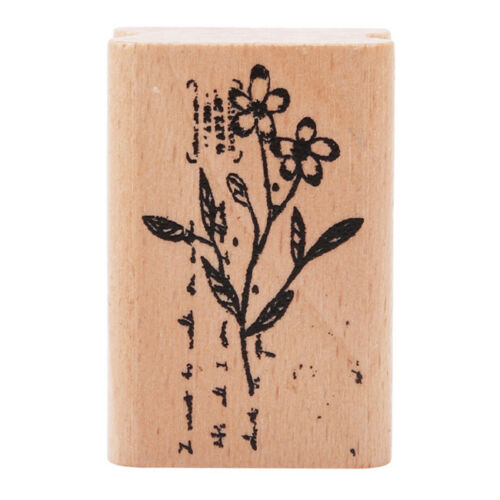 Various Styles Plant Flower Wooden Stamp Scrapbooking Photo Album Symbol N7