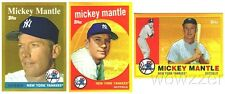 1958,59,60 Mickey Mantle EXCLUSIVE 3 Card Gold Topps Chrome Refractor Set 2010