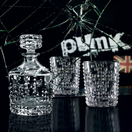 Nachtmann Punk Patterned Whisky Tumblers /& Decanter Set
