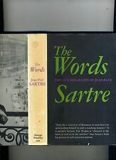 THE WORDS-AUTOBIOGRAPHY JEAN PAUL SARTRE-1ST/2ND 1964-HB/DJ-VG+