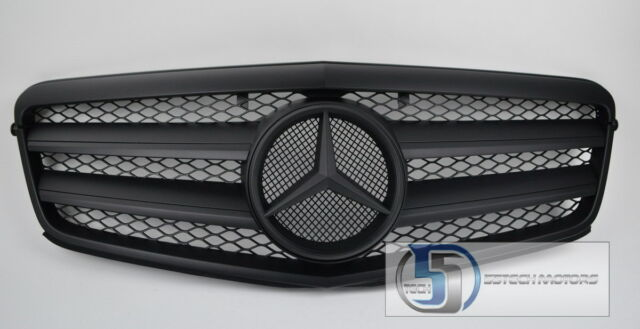 2010 2011 W212 Mercedes E Class E350 E550 Grill grille Matt Black 100% MATTE BK