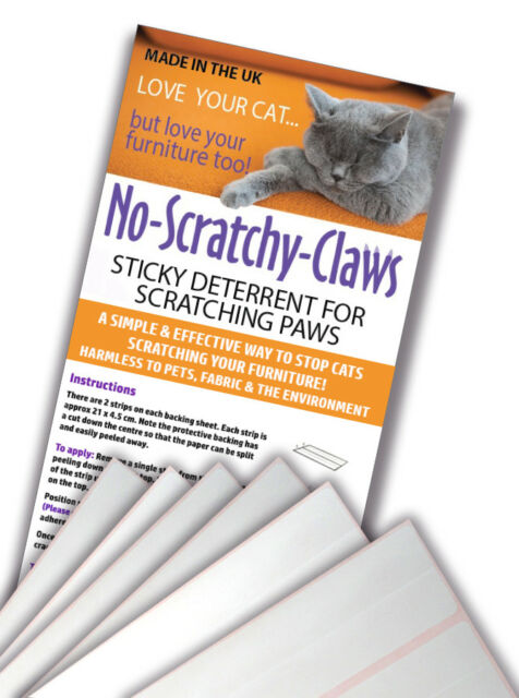 Strange 24 Cat Scratch Deterrent Sticky Paws Strips For Scratching Furniture Sofa Chair Download Free Architecture Designs Scobabritishbridgeorg