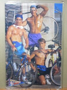 Image Is Loading Student Bos Vintage Poster Hot Guys Bicycle Bike