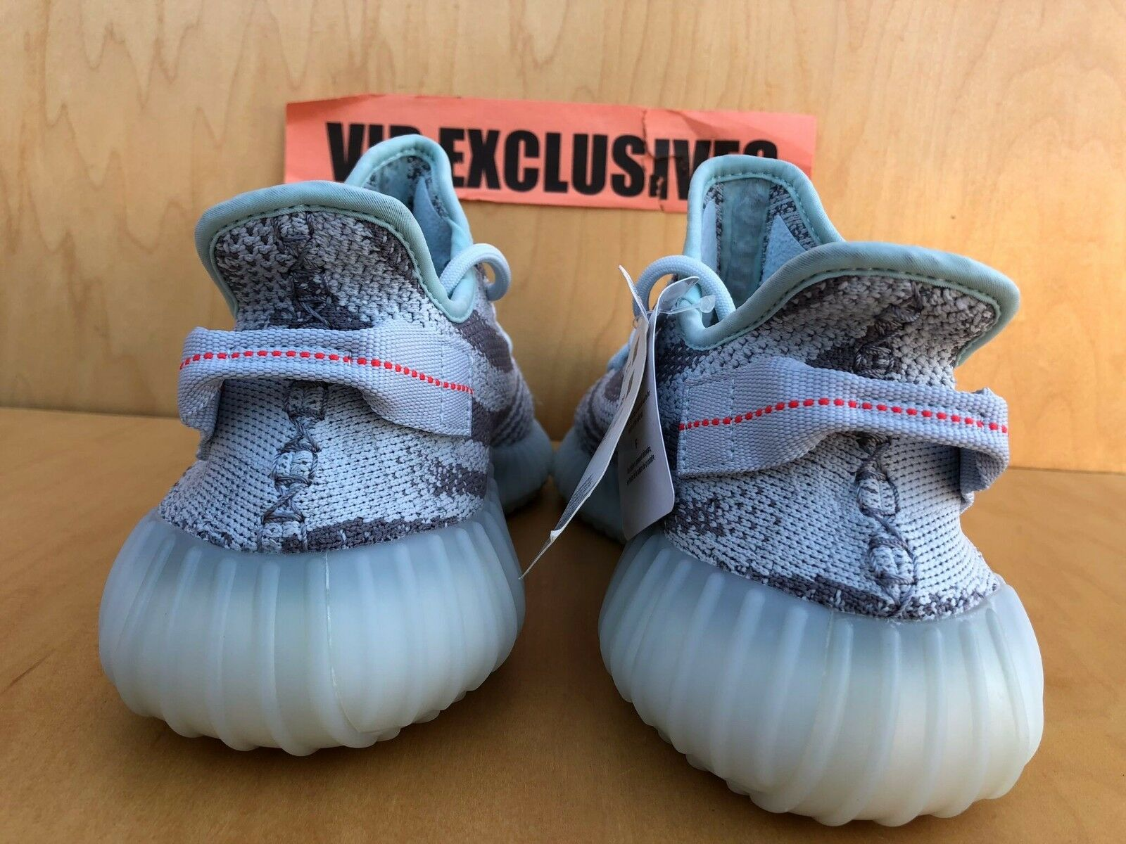 save off 0a96d 087fc ... Adidas Yeezy Boost 350 V2 Blue Tint Grey Red Red Red B37571 SPLY 100%  AUTHENTIC ...