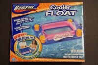 Banzai Cooler Float 4 Cup Holders & Tow Rope In Box For Pool