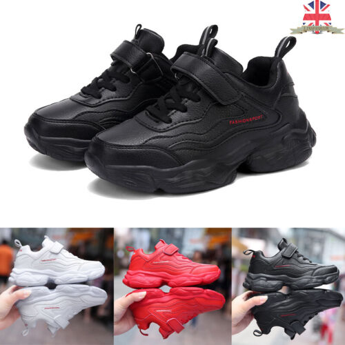 Kids Autumn Fitness Sport Trainers Solid Athletic Comfy Sneakers Boy Girl School
