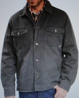 Men's Woolrich Dorrington Jacket Fleece Lined Gray Cotton Size 2xl