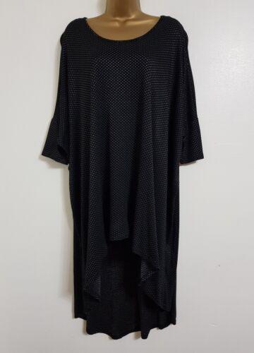 NEW Plus Size 16-32 Black Batwing Dipped Hem Tunic Dress Top Blouse