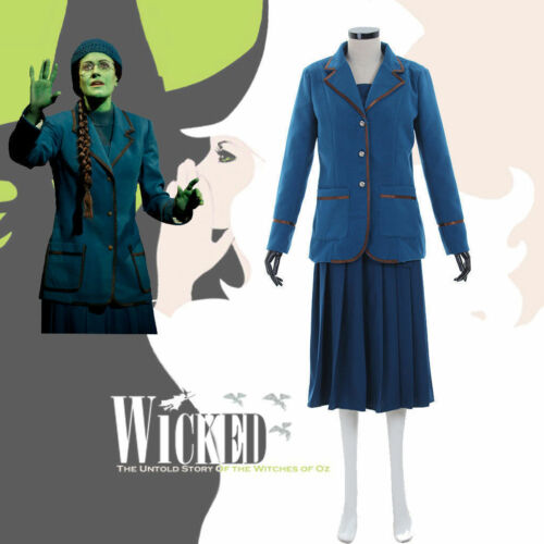 Custom Made Popular Music Drama Wicked Elphaba Dress Cosplay Costume HH.999