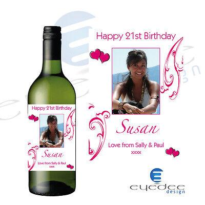 Set 2 Valentine/'s Day Wine Labels - V7 12.7cm x 8.4cm
