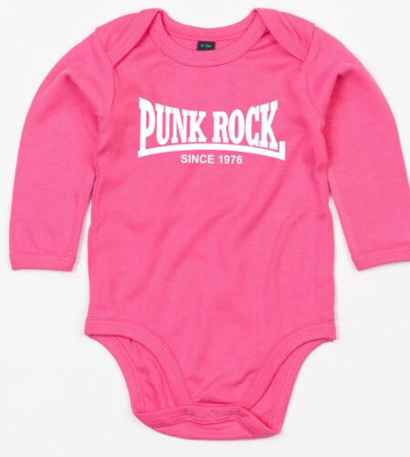 Punk rock since 1976 manga larga body bio-algodón Pink
