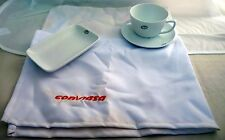 Conviasa BONE CHINA airline dishes plate cup placemat linen dinnerware VIASA ax