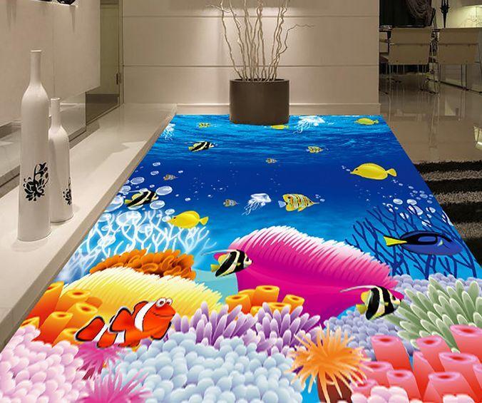3D Sea Marine Organism Floor WallPaper Murals Wall Print Decal 5D AJ WALLPAPER